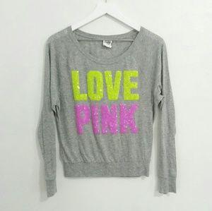 Victoria's Secret PINK Sequin Logo Sweatshirt